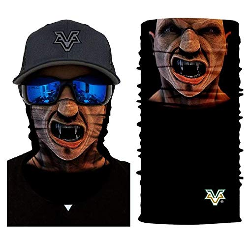 3D Vampire Sun Mask Tube Neck Face Scarf Lower Half Face Motorcycle Bicycle Shield Sun Air Soft Outdoor Biker Riding Masks No.160 ()