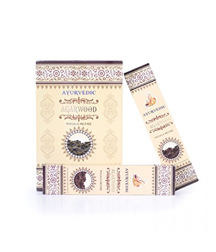 Ayurvedic Agarwood/Oudh Masala Incense Sticks Agarbatti (12 Packs X 15 Sticks Each)