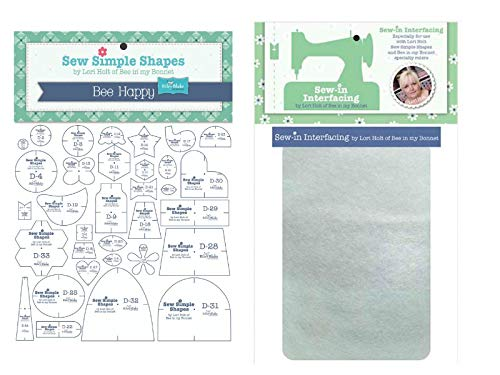 Lori Holt's Sew Simple Shapes with Packaged Pellon - 3 Yards (Bee Happy)