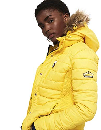 Double Fuji Ziphood Superdry Slim Jaune Vestes Femme Down qaHtXC