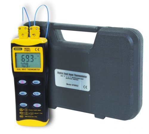 General Tools & Instruments DT8852 Digital Dual Input Thermometer with 2 K Type Probes