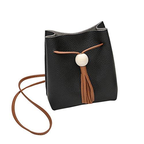 para 18 19cm x diseño Mujer Negro cm Vintage Bolso 18 19 Milnut Azul Bandolera 0xq7wPRnE