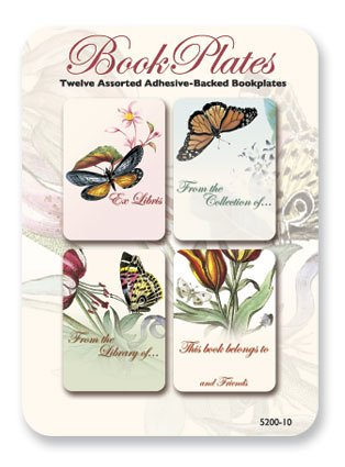 UPC 798925004615, Butterflies - Set of 12 Assorted Adhesive Bookplates