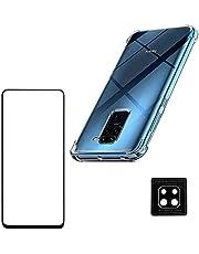 Kit Capa Anti Queda Xiaomi Redmi Note 9 + Película 3D Vidro + Película Nano Flexível Câmera [Sky Dreams]
