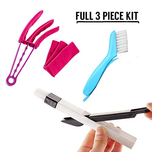 Window Blind Cleaner Duster Brush - Window or Sliding Door Track Cleaning Brush, Cleaning Tools for Shades, Shutters, louvered doors,Air Conditioner