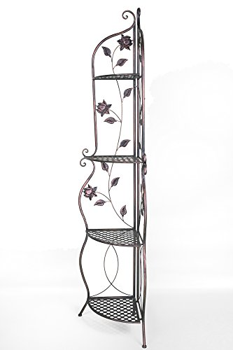 Heather Ann Creations W190935-LTC Lotus Kitchen Corner Bakers Rack, Copper by Heather Ann Creations (Image #2)