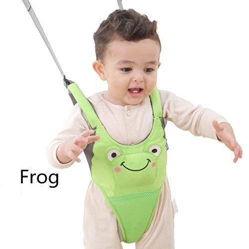 WYT Toddler Safety Walking Reins Harness Belt Adjustable Strap Walk Assistant,Green Frog