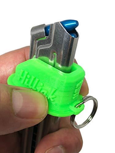 Hilljak Ruger Mark I, II, III, IV, 22/45, S&W Victory, Browning Buck Mark, Beretta U22 Neos 22LR magazine loader, 3D Printed Speed Loader Quickie Loader - Neon Green ()