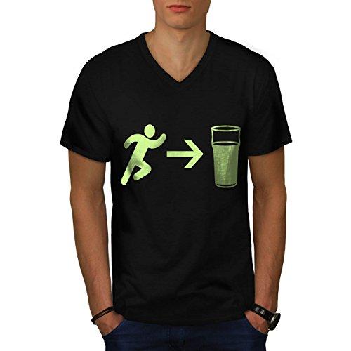 exit-beer-needs-me-men-new-l-v-neck-t-shirt-wellcoda
