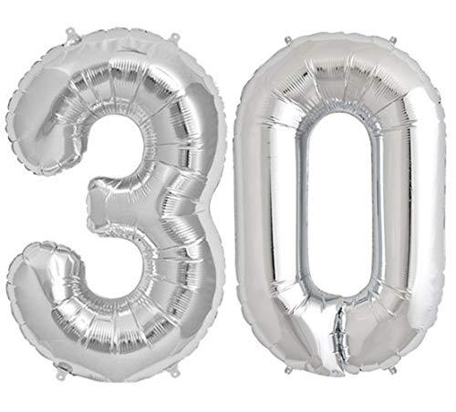 Tellpet Silver Number 30 Balloon, 40 (30 Balloon)