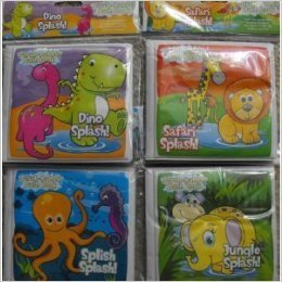 Scrub-bubble Bath Book Set of 4 (Dino Splash!, Jungle Splash!, Safari Splash!, Splish (Splish Splash Bath)