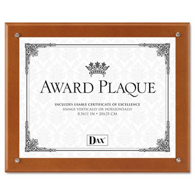 Plaque-In-An-Instant Kit w/Certs & Mats, Wood/Acrylic, Up to 8 1/2 x 11, ()