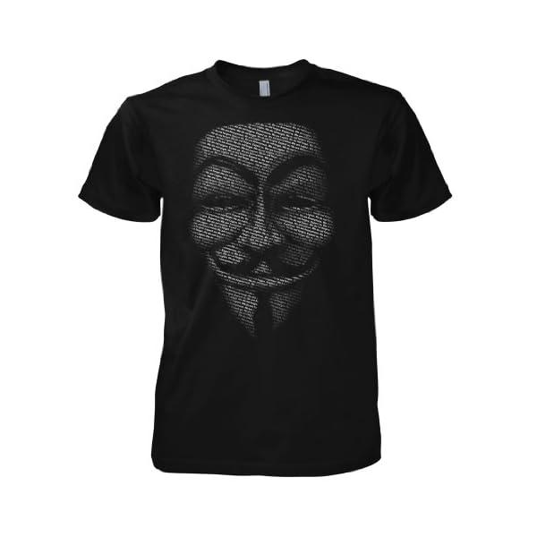 Chameleon Clothing Geek Hacker Anonymous Slogan Mask 701475 T-Shirt