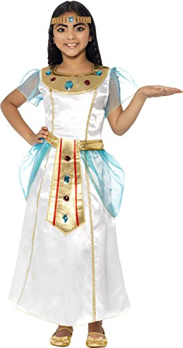Costume Cleopatra Uk (Smiffy's Children's Deluxe Cleopatra Girl Costume, Dress And Headpiece,)