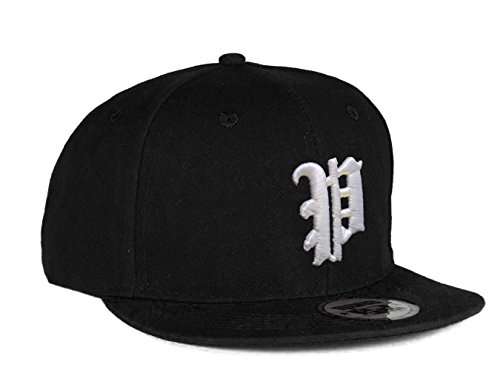 4sold Snapback Hat With Raised 3D Embroidery Letter Baseball Cap Hip-Hop Cap Hat Headwear (One Size, P)
