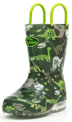 Pictures of Outee Kids Toddler Boys Rain Boots Waterproof BLP18ADNSGRN13 5