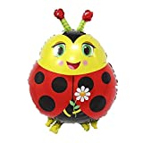 Animal Cute Pets Foil Helium Balloon for Kids Birthday Wedding Party (Ladybug)