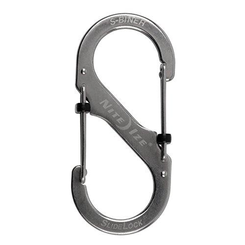 Nite Ize SlideLock Steel S-Biner LSB2-11-R3