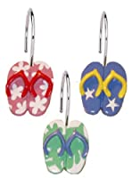 Flip Flops Shower Curtain Hooks - set of 12