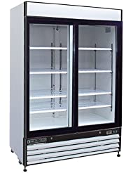 Maxx Cold MXM2-48R X-Series Two Section Merchandiser Refrigerator 48 Cubic Feet