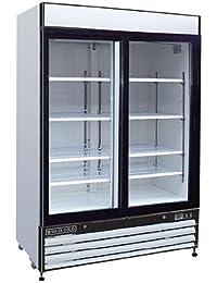 Maxx Cold MXM2-48R X-Series Two Section Merchandiser Refrigerator 48 Cubic Feet