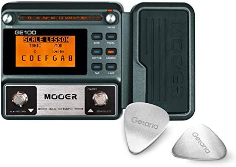 Mooer Effect Pedal GE100 Multi-Effects Pedal With 2 Getaria Guitar Picks