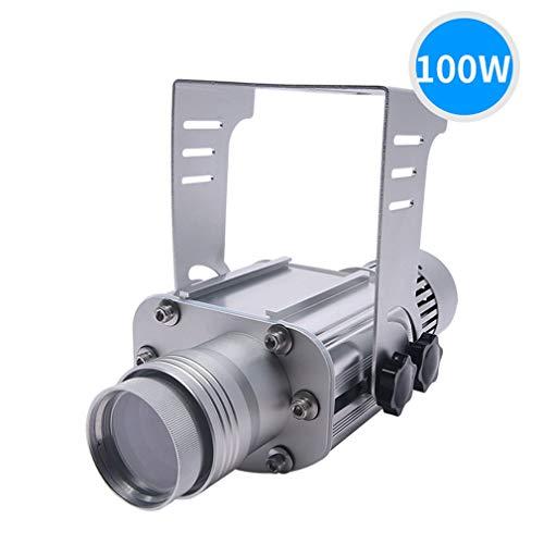 AHWZ 100W LED GOBO Logo Projektor Licht Im Freien IP65 Wasserdicht Für Den Innenbereich,Silber,Outdoor