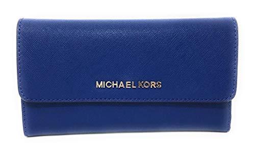 Michael Kors Jet Set Travel Large Trifold Leather Wallet ()