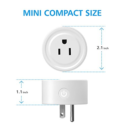 Wifi Smart Plug works with Alexa, Mini Smart Outlet Echo & Echo Plug, Google Home, Smart Home Devices, No Hub Required Wifi Mini Socket, Wifi Remote Socket Control Your Devices from Anywhere (2 Pack) by EZH (Image #1)