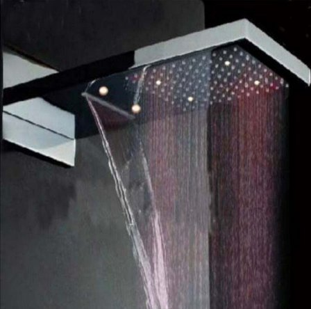 GOWE LED Luxury Waterfall Rain Shower Head Shower Faucet Thermostatic 4 Ways Mixer by Gowe (Image #2)