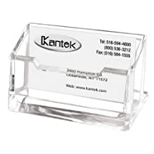 Kantek AD30 Acrylic Business Card Holder, Fits 80 Business Cards, 4 x 1 7/8 x 2-Inches (Clear)