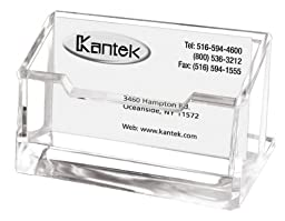 Kantek Acrylic Business Card Holder, Fits 80 Business Cards, Clear, 4 x 1 7/8 x 2 Inches (AD30)