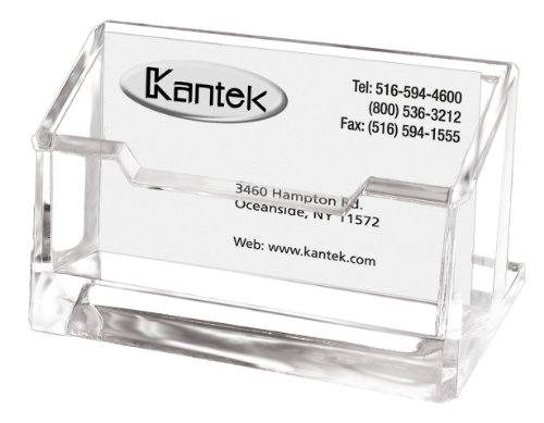 Clear Acrylic Card (Kantek Acrylic Business Card Holder, Fits 80 Business Cards, Clear, 4 x 1 7/8 x 2 Inches (AD30))