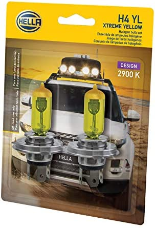 H4 472 HEADLIGHT BULB x2 FROM BOSCH CONTAINING YELLOW CAPS  HIGH QUALITY