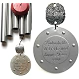 Memorial Gift Wind Chime In Sympathy and Remembrance Rush Direct Shipping for Funeral Loss Listen to the Wind Memorial Garden Miscarriage, Stillbirth or Adult