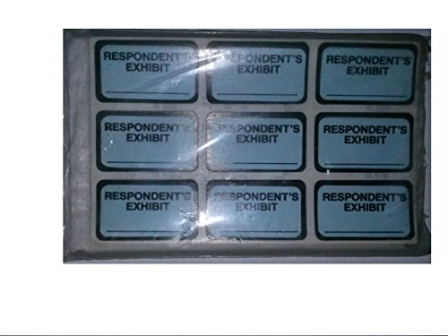 Tabbies 58027 Legal Exhibit Labels Respodent's Exhibit 252 Tabs Easy to Use Self Adhesive