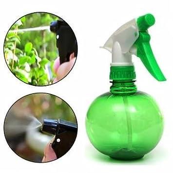 250 ml jardinería mano presión regadera plástico herramienta de plantación color verde y puede.