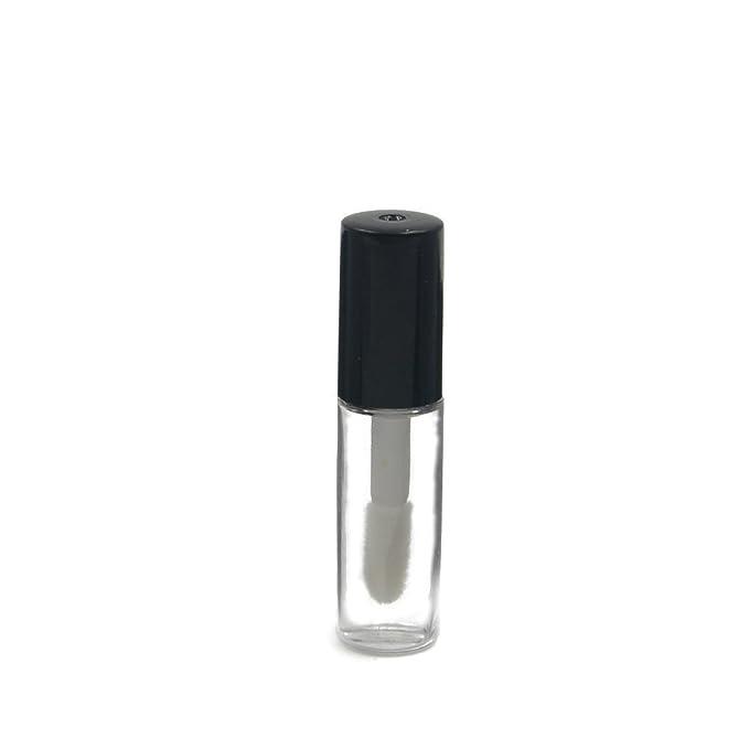 1.2ml Cute Empty Lip Balm Bottle Cosmetic Container Tube Gloss Black (6pcs)