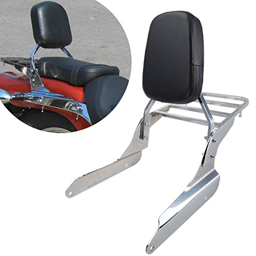 PanelTech Backrest Sissy Bar Luggage Rack For Honda Shadow VT600C 1999-2007 VLX600 99-07 (Bar Sissy Backrest)