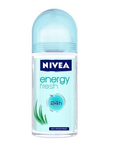 Nivea Energy Fresh Anti-Perspirant Roll-On, 1.7 Fluid Ounce (Pack of 3)