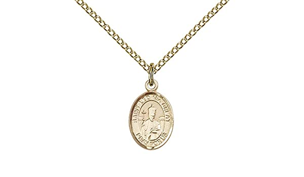 Patron Saint of Virgins//Purity 14kt Gold Blessed Karolina Kozkowna Medal
