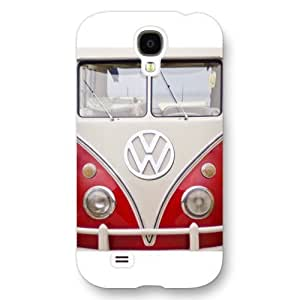 UniqueBox Customized White Frosted Samsung Galaxy S4 Case, VW Minibus Samsung S4 case, Only fit Samsung Galaxy S4