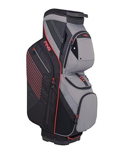 Ping Golf Umbrellas (Ping Traverse Cart Bag | Black/Silver/Electric Crimson)