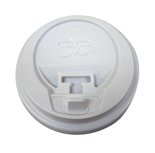 Gogo Reclosable Tear Tab Hot Cup Dome Lids, White 50/bag