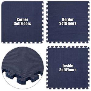 Floor Pad, SoftFloors, Navy Blue, 8' x 8' Set, Total Sq. Ft.:64