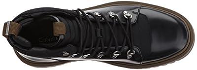 Calvin Klein Men's Rory Box Leather/Balstc Nyl Boot