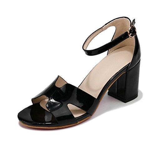 black dita i sandali sandali signore i tacchi sandali i a e alti tacchi i spillo fibbie 40 dei sandali piedi 8Rq8U