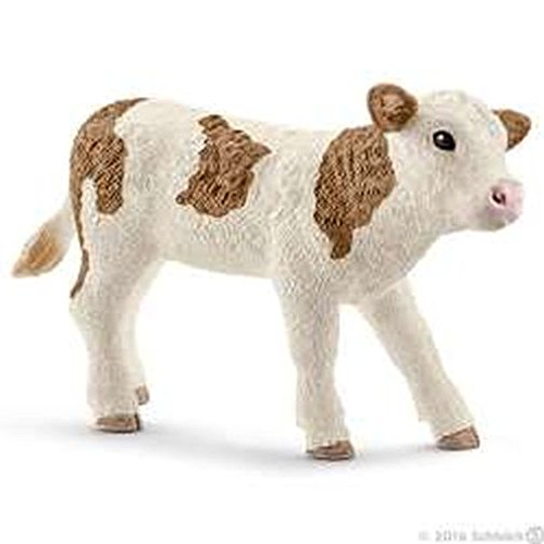 Schleich North America Simmental Calf Toy Figure