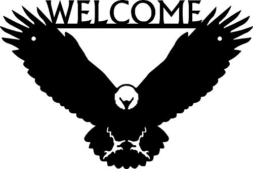 - The Metal Peddler Eagle Welcome Sign - Size 12