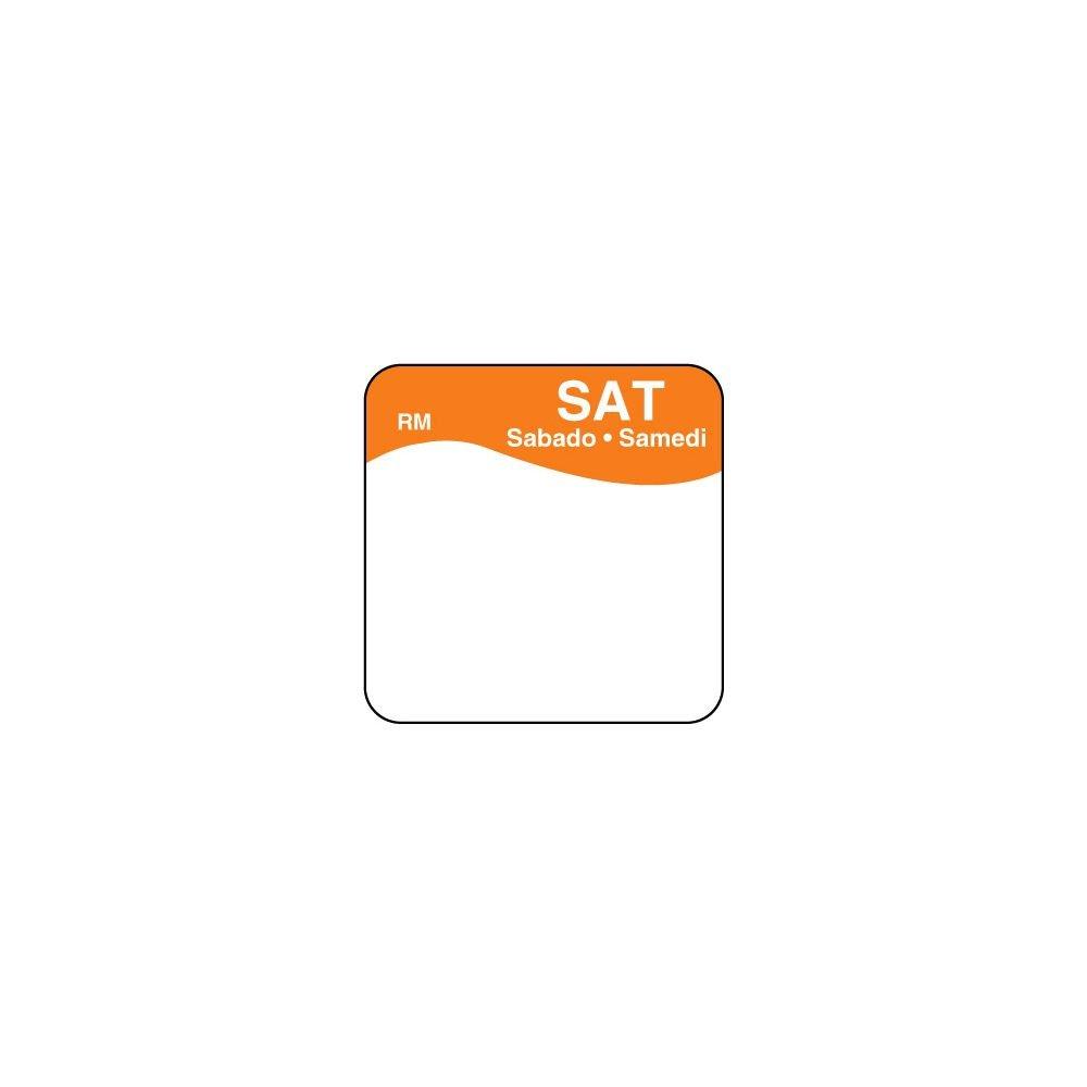 DayMark 1101116 ReMark Bilingual 1'' Saturday Day Square - 1000 / RL